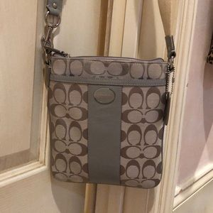 Gray Coach Cross Body Bag